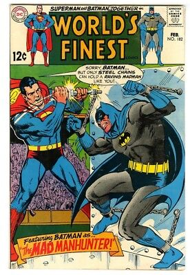 World's Finest #182 (1969) VG/F New DC Silver Age Collection