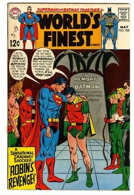 World's Finest #184 (1969) VG New DC Silver Age Collection