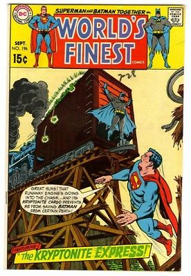 World's Finest #196 (1970) VF New DC Silver Age Collection