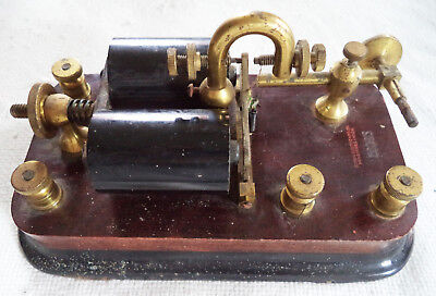 Used Signal Electric Mfg Co.150 Ohms Duplex Repeater Relay - All Brass Hardware