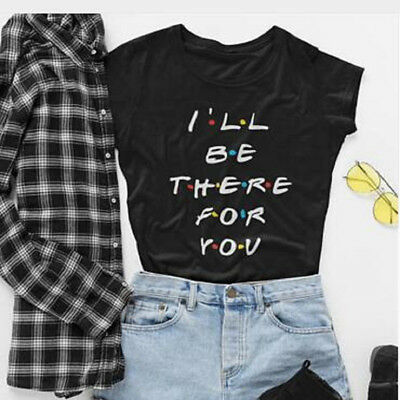Summer Women Round Neck Casual Short Sleeve Loose T-shirt Letter Print Tee Tops
