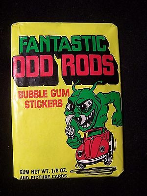 Very Rare Fantastic Odd Rods Trading Cards Unopened Wax Pack
