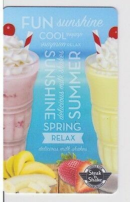 Steak N Shake Summertime Sunshine Fun Tropical Milk Shakes Gift Card Collectible