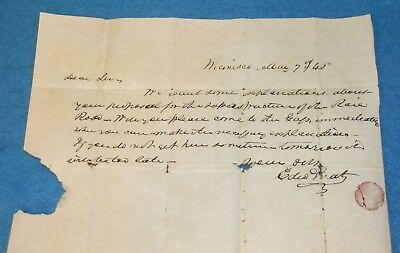 1846 Stampless Letter WICONISCO PA LYKENS VALLEY RAILROAD CONSTRUCTION Freeland