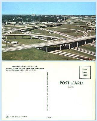I-20 I-75 I-85 Interstate Interchange Atlanta Georgia Road Highway Postcard