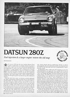 1975 Datsun 280Z Coupe Road Test Technical Data Review Article