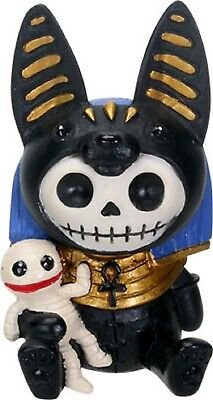 Furrybones Figurine -Anubis The Ancient Egyptian - New Skull Skeleton In Costume
