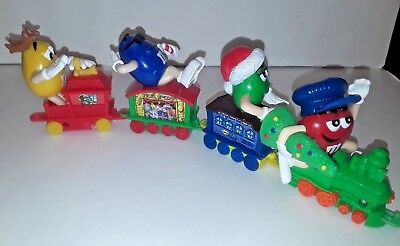 M & M Christmas Train Lot Of 4 Series 1 Candy Toppers