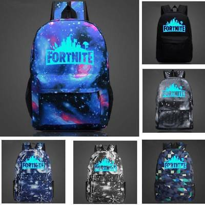 Adults Teenager Fortnite Battle Royale Backpack Rucksack School Bag Camping AU