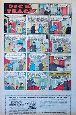 Dick Tracy by Chester Gould - full tab page color Sunday comic - Oct. 8, 1933