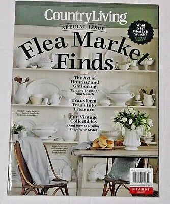 Country Living Magazine Flea Market Special Issue 2018 Vintage Collectibles