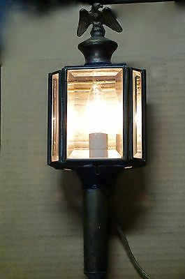 Antique carriage lamp (electrified)