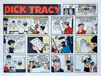 Dick Tracy by Chester Gould - large half-page color Sunday comic - July 16, 1972