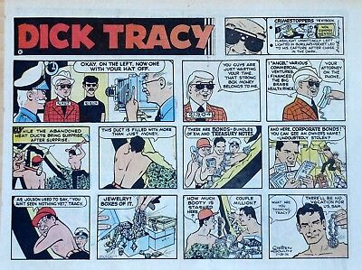 Dick Tracy by Chester Gould - large half-page color Sunday comic - July 28, 1974