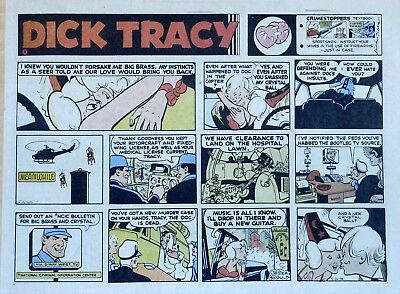 Dick Tracy by Chester Gould - large half-page color Sunday comic - May 26, 1974