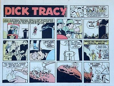 Dick Tracy by Chester Gould - large half-page color Sunday comic - May 19, 1974