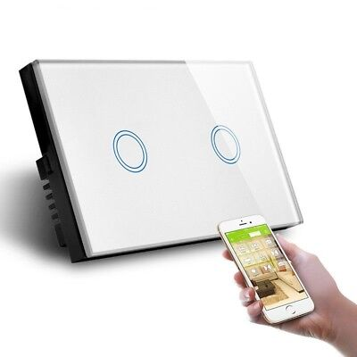 AU Approved SMART HOME WIFI Touch wall light Double Switch Panel 2 gang