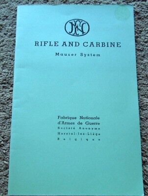 FN Mauser Rifle Family Manual 8mm, 7.65mm, 7mm