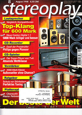 Stereopl.8/98 Isophon Spirit,T+A CD 3000,Arcam Alpha 10,Clearaudio Master Refere
