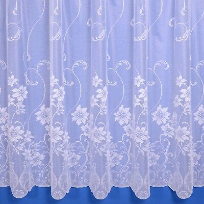Evie Lightweight Net Curtain In White - Sold By The Metre - Free Postage!