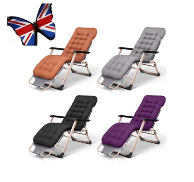 UK Recliner/Chair Cotton Seat Pad Replacement Cushion Pad For Garden Sun Lounger