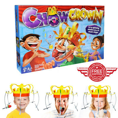 Chow Crown game Family Party Game Hat Fun Toys Musical Food Challenge New Gift