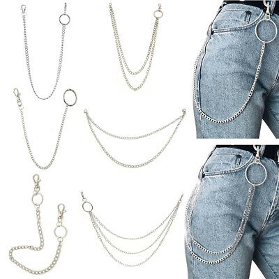 10 Styles Street Big Ring Key Chain Rock Punk Trousers Hipster Pant HipHop