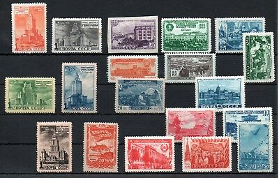 RUSSIA , 1949-1951 , nice lot ONLY BETTER STAMPS , MNH ( a few with faults )