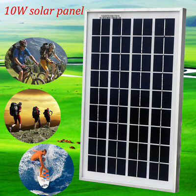 10W 12V Poly Solar Panels PV 10Watts Solar Module for Car RV Home Battery Charge