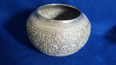 Antique Sterling Silver Persian/Asia Minor Vase w Ornate Repoussé Pattern 508g