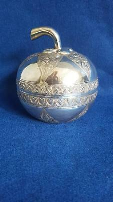 Lge Antique 1900s Sterling Silver Persian/Asia Minor Trinket or Candy Box 182g