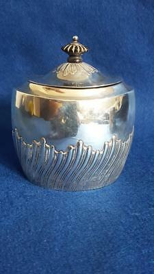 Striking Victorian Antique Hallmarked Sterling Silver Tea Caddy Sheff 1893 148g