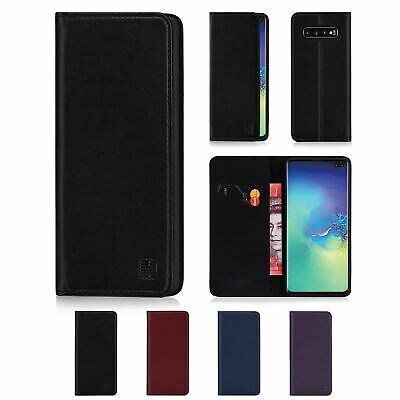 32nd Classic Series - Real Leather Book Flip Case Cover Samsung Galaxy S10 Plus