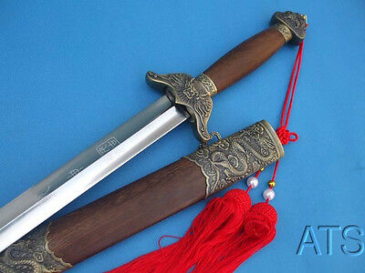 Chinese Hand Forged Tai Chi Sword Jian Flexible Sword + Red Tassel