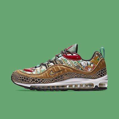 newest b0797 46ee5 NIKE MEN'S AIR Max 98 CNY 2019 Chinese New Year YOTP Wheat Gold Black  BV6649-708