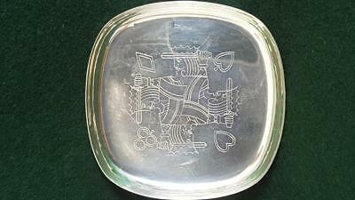 Excellent Quality Geoffrey G Bellamy Designed Playing Card Dish H/marked B'ham