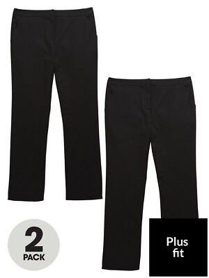 v by very Girls Age 11 (Plus Fit) Black School Trousers BNWT RRP £20
