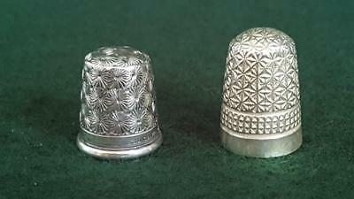 2 Collectable Thimbles Sterling Silver incl H/M Chester 1929