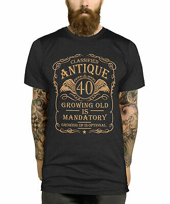 40th Birthday T Shirt Gift Idea For Men Funny Present Vintage 40 Year Old Man