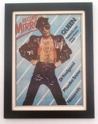FREDDIE MERCURY*leather*QUEEN*1979*ORIGINAL*COVER*POSTER*FRAMED*FAST WORLD SHIP