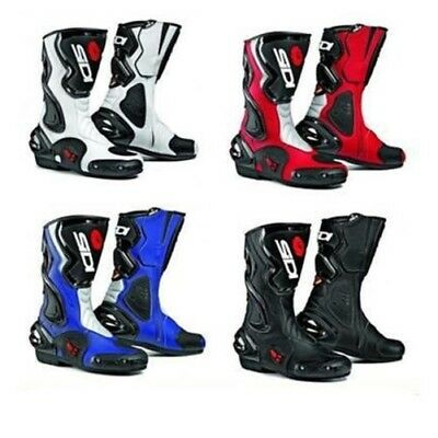 Sidi Cobra Leather Motorcycle Motorbike Sport Race Vented Boots - Black
