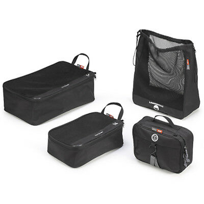 Givi T518 4 Pieces Motorcycle Motorbike Breathable Bags Travel Set - Black