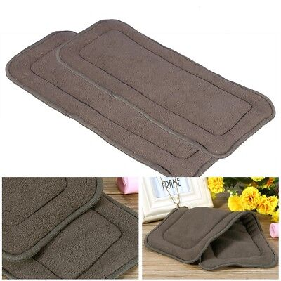 Reusable Washable Bamboo Charcoal 5 Layers Baby Cloth Nappy Diaper Insert