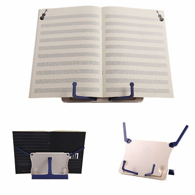 Folding Adjustable Desktop Sheet Music Stand Holder Table Top Cook Book Stand