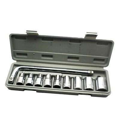 10pcs 1/2 Inch Socket Wrench Set CR-V Drive Ratchet Wrench Auto Repairing