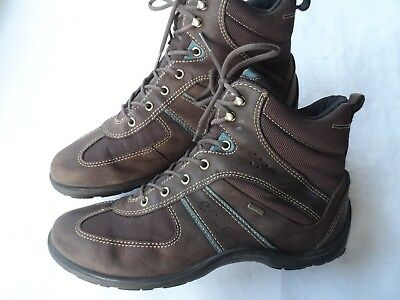Ecco Stunning Goretex Leather Walking Boots- Size 7.5 Uk/41 Eu/10 Us Excellent
