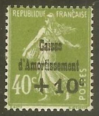 "FRANCE STAMP TIMBRE 275 "" CAISSE AMORTISSEMENT +10c S.40c SEMEUSE "" NEUF xx TTB"