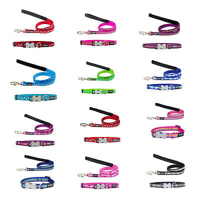Red Dingo Fully Adjustable Dog / Puppy Collars And Leads