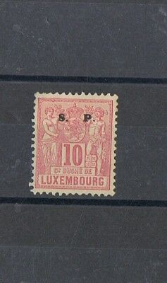 LUXEMBOURG / 1882/83 10 c. rose S.  P. MH