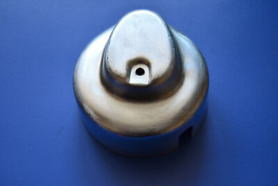 Lu200902A Pressed Steel Cap For Lucas E3L Dynamo - Lower Right Wire Exit